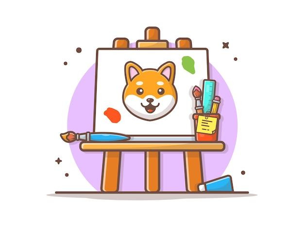 Ezel art board vector illustratie
