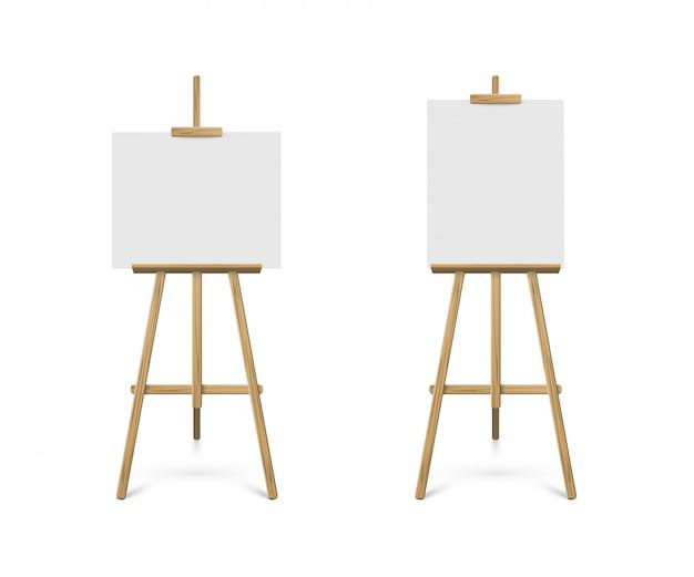 Ezels met horizontaal en verticaal canvas