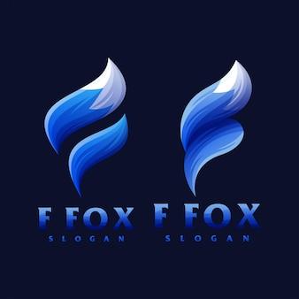 F fox-logo ontwerp