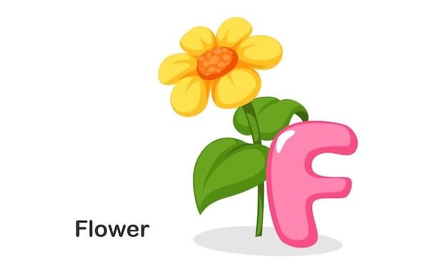 F voor flower
