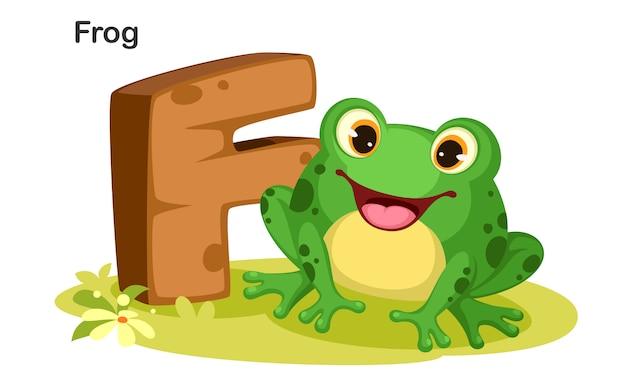 F voor frog