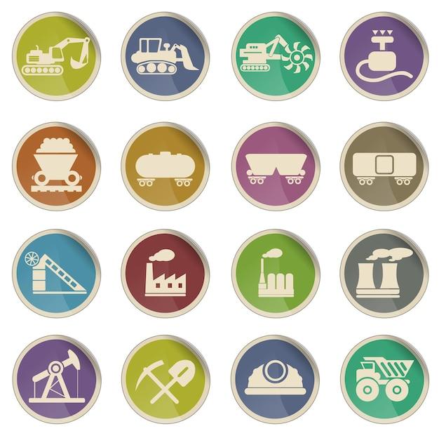 Fabriek en industrie gewoon symbool voor webpictogrammen