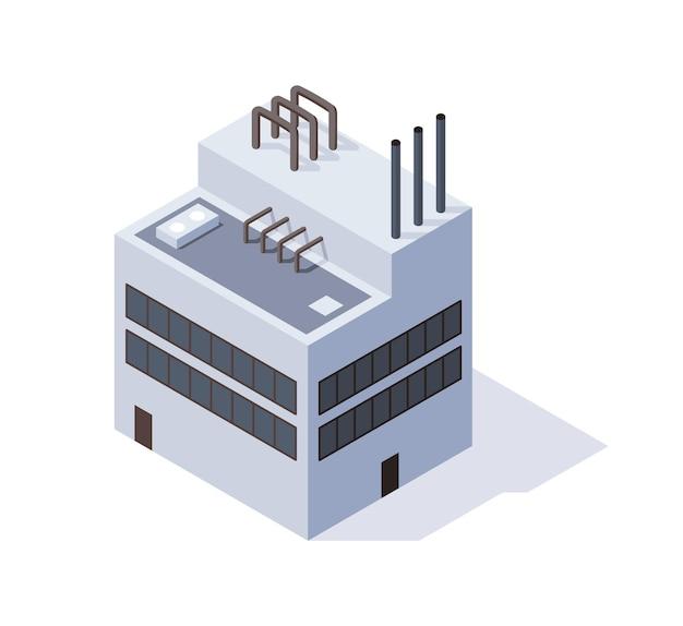 Fabriek in isometrische weergave