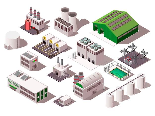Fabriek isometrische set