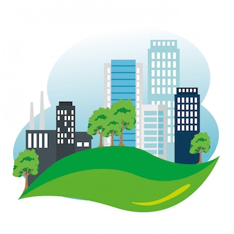 Fabriek met behoud van bouw- en ecologiebomen