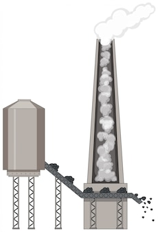 Fabriek met steenkoolenergie