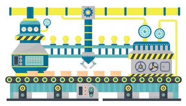 Fabriek transportband industriële verpakking riem