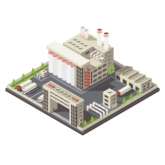 Fabrieksgebied isometrisch
