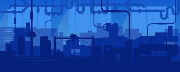 Fabriekslijn industriële fabrieksscène.