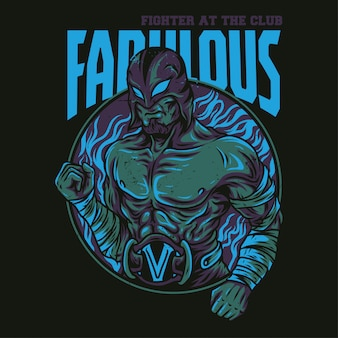 Fabulous fighter illustratie