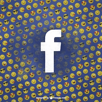 Facebook achtergrond met emoticons