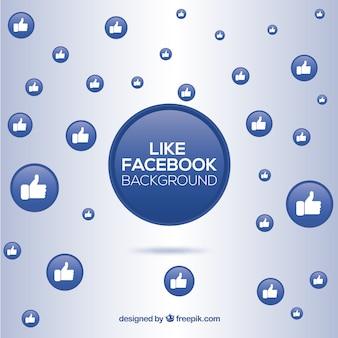 Facebook-achtergrond met likes