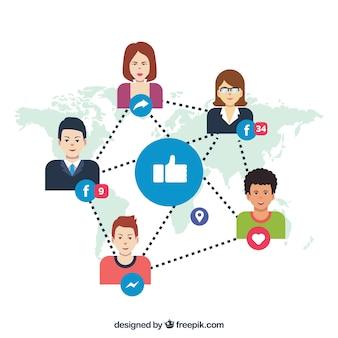 Facebook achtergrond met mensen