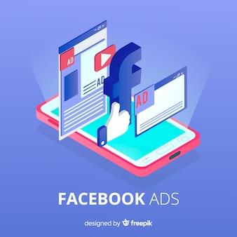 Facebook-advertenties platte achtergrond