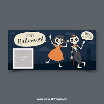 Facebook-banner voor halloween