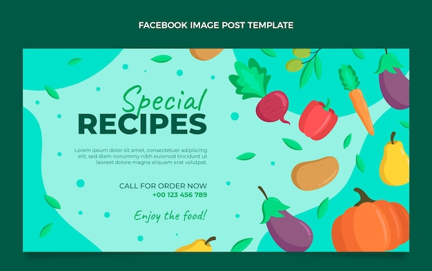 Facebook-bericht voor plat eten
