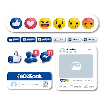 Facebook-emoticons en -knoppen