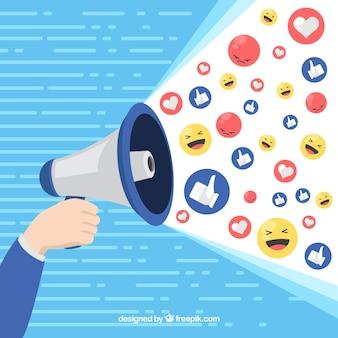 Facebook influencer achtergrond