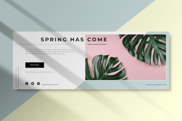 Facebook lente voorbladsjabloon