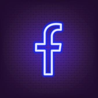 Facebook neon-logo. facebook-pictogram. pictogrammen voor sociale media. realistische facebook-app-set. logo. vector. zaporizja, oekraïne - 24 juli 2021