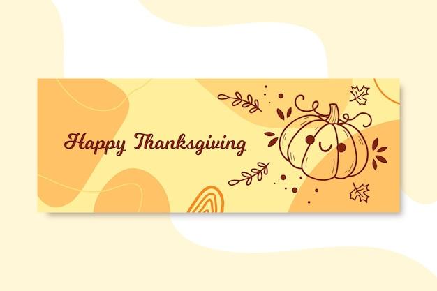 Facebook-omslag voor thanksgiving