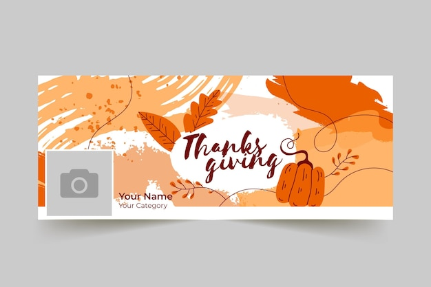 Facebook-omslag voor thanksgiving