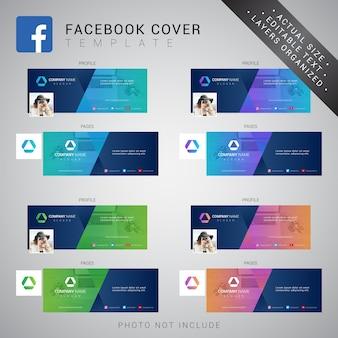 Facebook omslagsjabloon