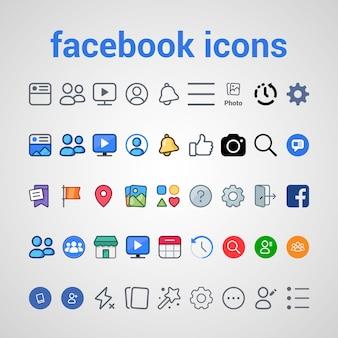 Facebook-pictogrammen