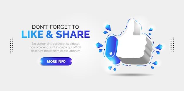 Facebook-promotieontwerp voor likes en abonnees.