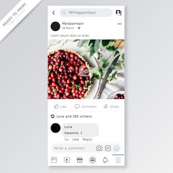 Facebook-sjabloon
