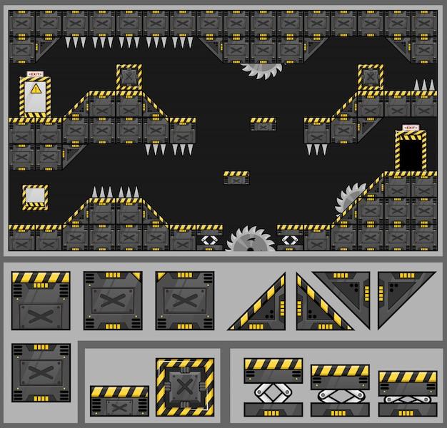 Factory game tileset