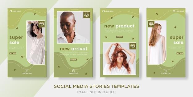 Fahion sale stories bannerpost voor social media instagram feed premium