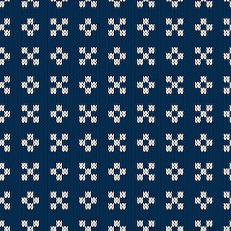 Fair isle stijl gebreide trui design. naadloos breipatroon. gebreide textuur