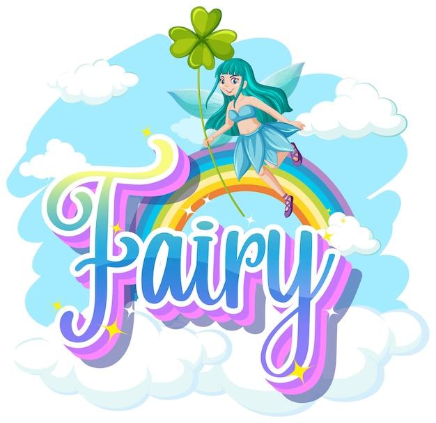 Fairy logo's op witte achtergrond