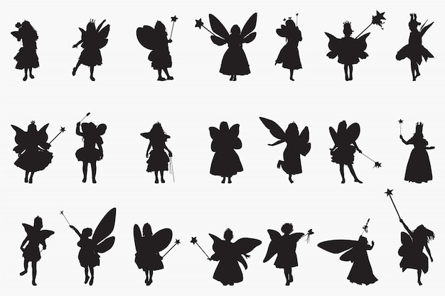 Fairy princes silhouetten