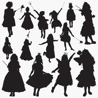 Fairy princes silhouettes