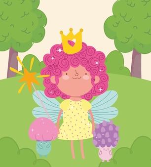 Fairy toverstaf paddestoel cartoon