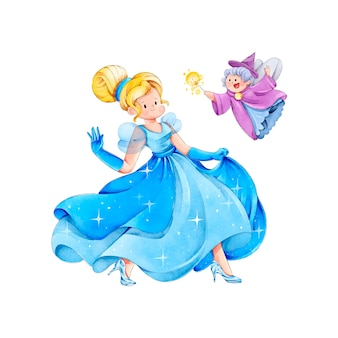 Fairytale assepoester aquarel stijl