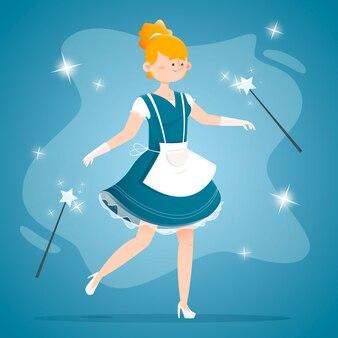 Fairytale assepoester illustratie