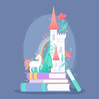 Fairytale concept met eenhoorn