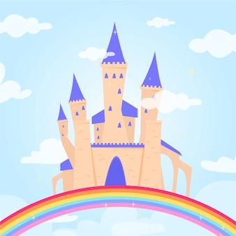 Fairytale concept met kasteel
