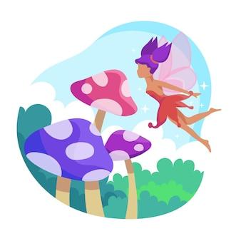Fairytale fairy concept