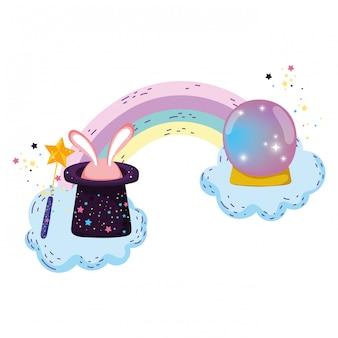 Fairytale kristallen bol met hoed en oren konijn