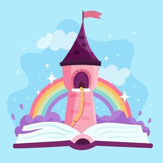 Fairytale magisch kasteel rapunzel haar