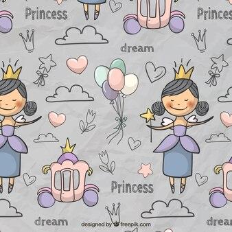 Fairytale patroon in leuke stijl