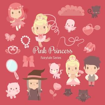 Fairytale-serie roze prinses