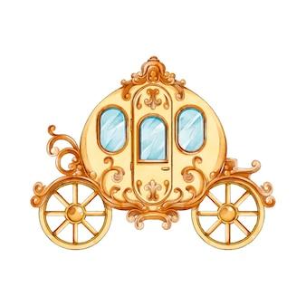 Fairytale vervoer aquarel stijl