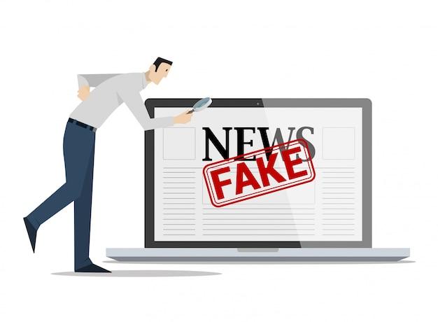 Fake news concept controleren.