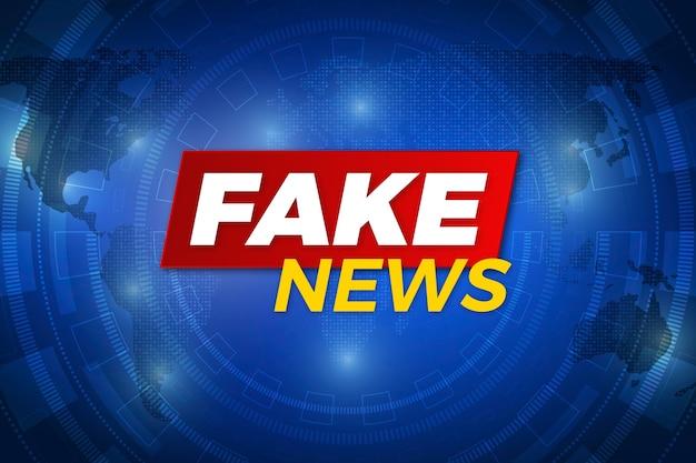 Fake nieuws uitzending achtergrond