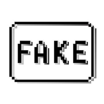 Fake pixelstempel